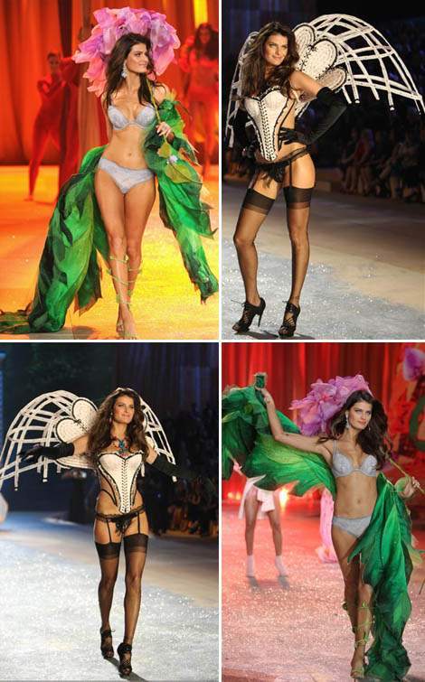 Isabeli Fontana looking sad for Victoria s Secret 2012 show