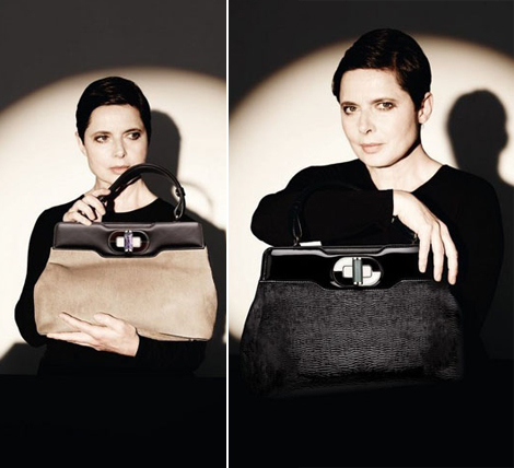 Isabella Rossellini Bvlgari handbags collection