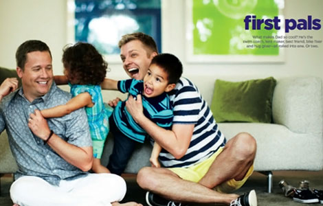 JCPenney gay Father s day ad campaign Pressured To Drop Ellen DeGeneres, JCPenney Responds With Gay Father's Day Campaign