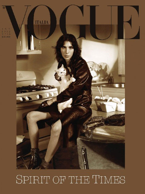 Jamie Bochert Vogue Italia August 2012 cover