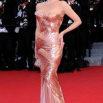 Jane Fonda Versace sequined dress Cannes 2012 Red Carpet