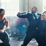 Jason Statham fighting in Tom Ford suit