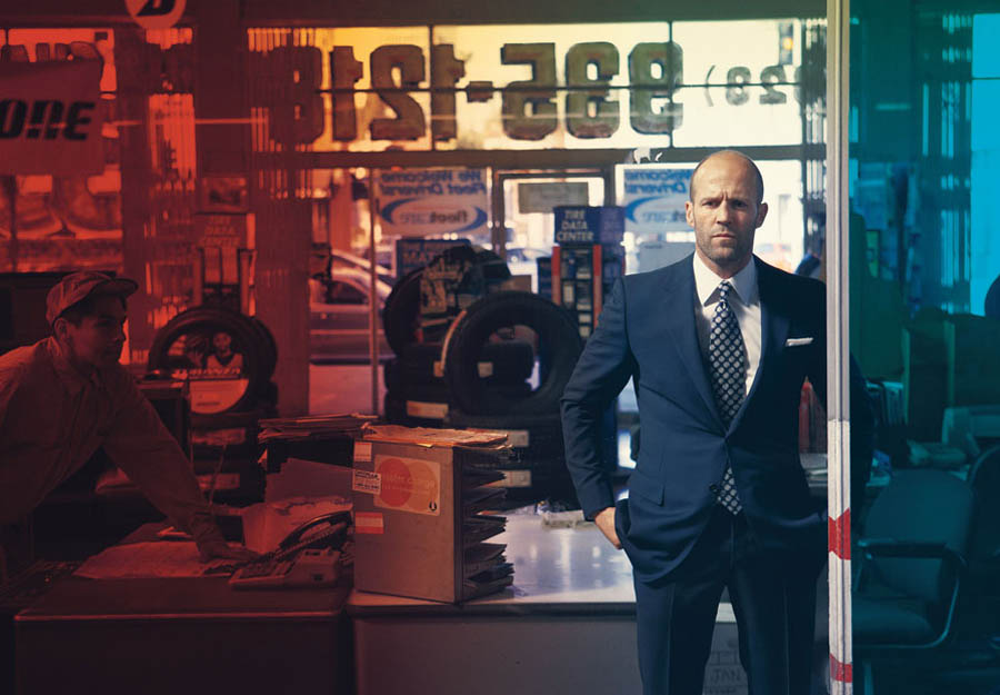 Jason Statham suits up for Details