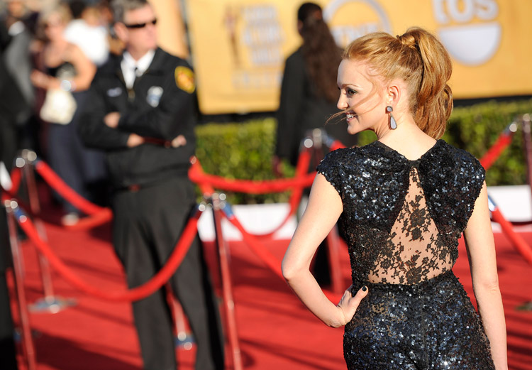 Jayma Mays 2012 SAG Awards Red Carpet