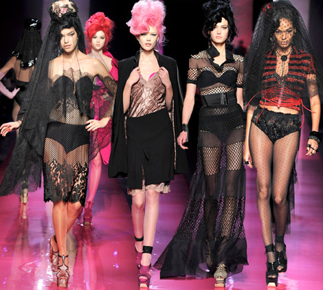 Jean Paul Gaultier Spring 2012 couture Amy Winehouse inspired collection