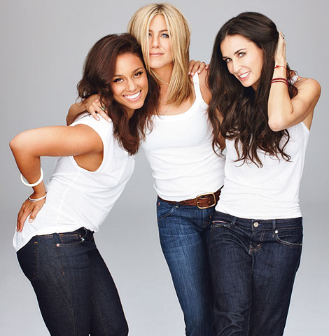 Jennifer Aniston Demi Moore Alicia Keys Glamour