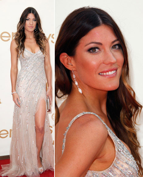 Jennifer Carpenter Tony Ward sequined dress 2011 Emmy Awards