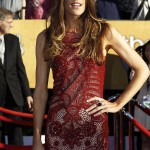 Jennifer Carpenter red lace Emilio Pucci dress 2012 SAG Awards