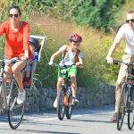Jennifer Connelly Paul Bettany kids NY biking