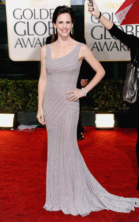 Jennifer Garner Atelier Versace dress Golden Globes 2010