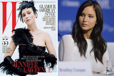 Jennifer Lawrence Silver Linings Playbook W October 2012 cover