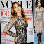 Jennifer Lawrence covers Vogue UK November 2012 lace Dolce Gabbana dress