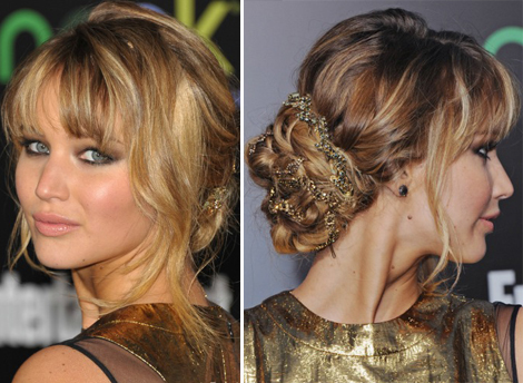 Jennifer Lawrence fancy updo