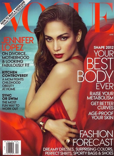 Jennifer Lopez Covers Vogue US April 2012