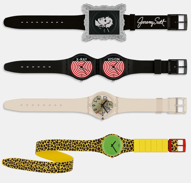 Jeremy Scott limited edition Swatch collection