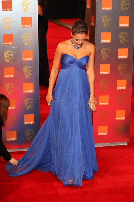Jessica Alba Atelier Versace dress 2011 Bafta Awards