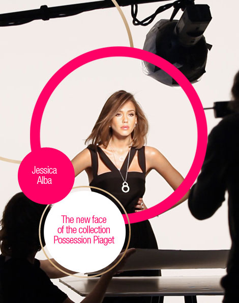 Jessica Alba new face Piaget Possession collection