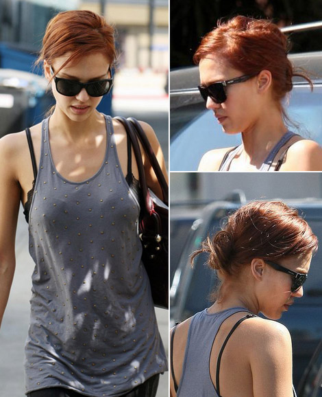 Jessica Alba new red hair