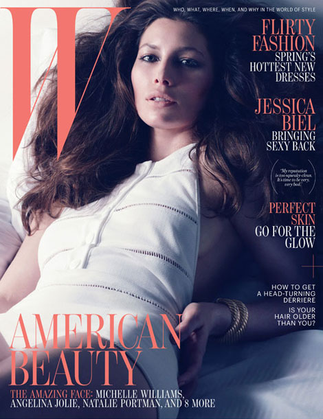 Jessica Biel W Magazine April 2012 cover