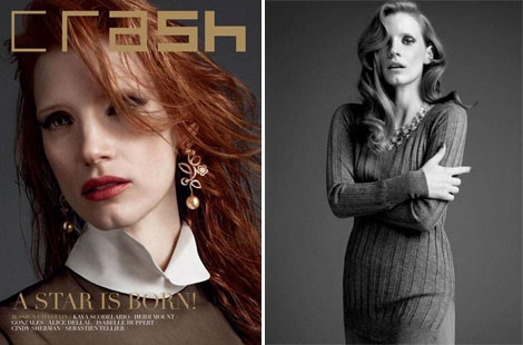 Jessica Chastain beautiful pictorial Crash magazine
