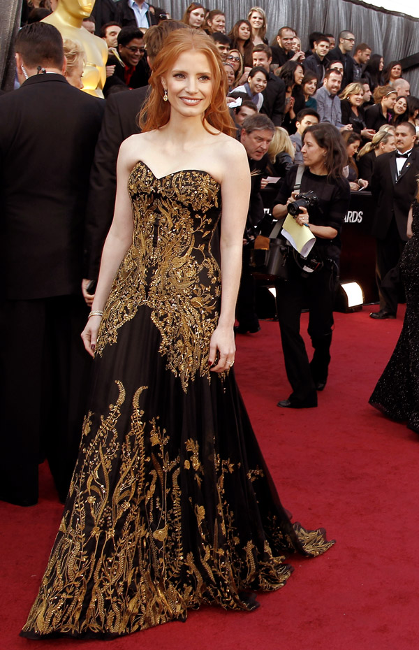 Jessica Chastain dress 2012 Oscars