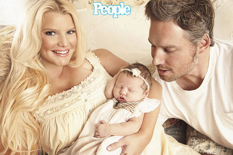 Jessica Simpson baby girl Maxwell Drew People magazine photo