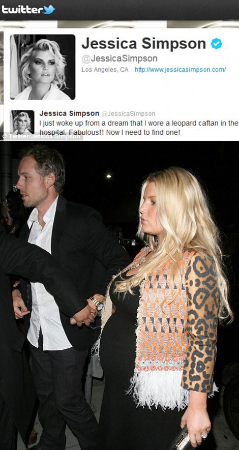 Jessica Simpson Wants Leopard Caftan For Delivery Room