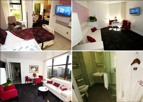 Jessica Simpson hospital birth luxury suite