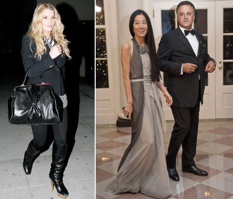 Jessica Simpson into bridal wear Vera Wang divorcing