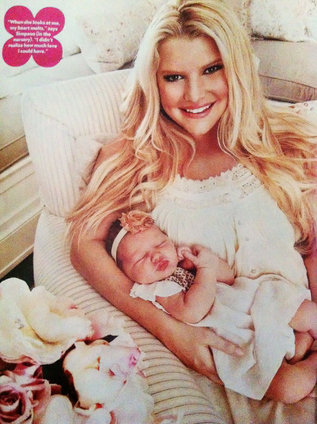 Jessica Simpson shows baby girl Maxwell Drew