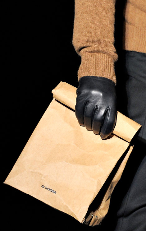 Jil Sander menswear bag Is This World's Most Expensive Brown Paper Bag: Jil Sander $290 Vasari Bag