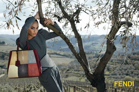 Joan Smalls Fendi fall 2012 ad campaign