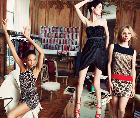 Joan Smalls Sasha Pivovarova Giambattista Valli for Impulse Macy s