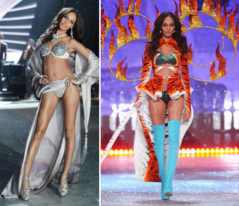 Joan Smalls On Fire For Victoria's Secret 2012 Fashion Show