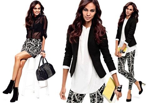 Joan Smalls in H and M s lookbook