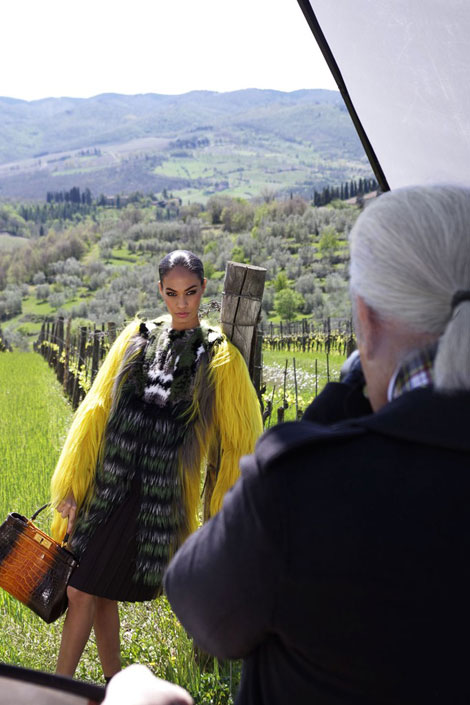 Joan Smalls' Fendi Fall 2012 Ad Campaign