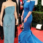Jodie Foster blue dress Kelly Osbourne blue dress 2012 Golden Globes