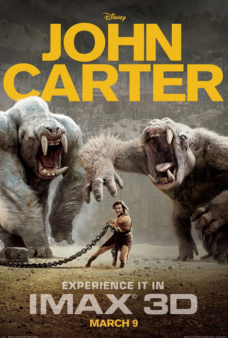 John Carter the movie ad poster