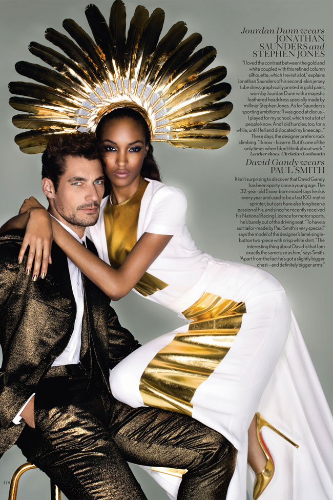 Jourdan Dunn David Ghandi outfits for the Olympics Closing Ceremony Vogue