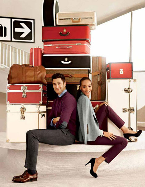 Jourdan Dunn, Noah Mills Banana Republic Fall 2012 Ad Campaign