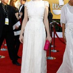Judy Greer white Collette Dinnigan dress 2012 SAG Awards