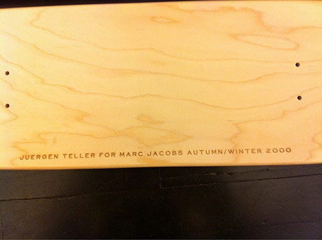 Juergen Teller for Marc Jacobs skateboard decks