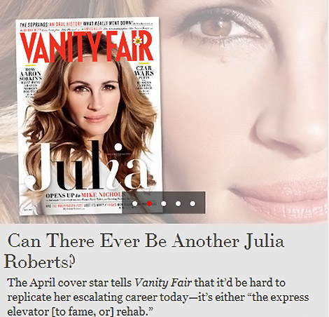 Julia Roberts Vanity Fair April 2012 cover
