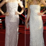Julianna Margulies same dress as Katrina Bowden 2012 SAG not