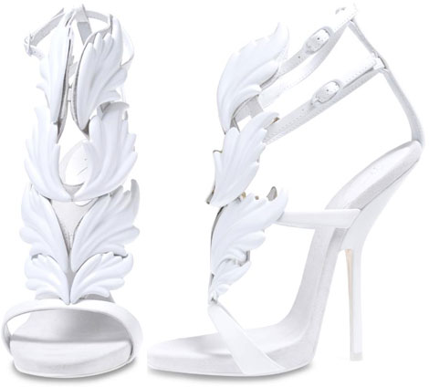 Kanye West's New Zanotti Shoes Cruel Summer White Leaved Sandals