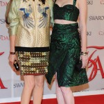 Karen Elson with Tabitha Simmons CFDA 2012 Red Carpet
