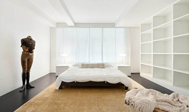 Karl Lagerfeld s bedroom NY Apartment