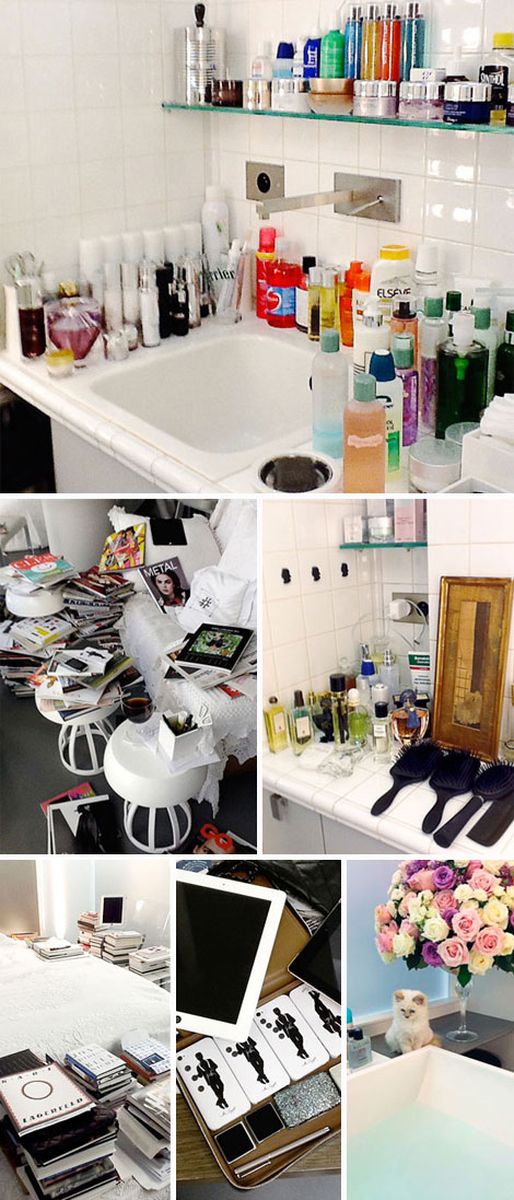A Day In Karl Lagerfeld's Life. About Lagerfeld's Home And His Beauty Products
