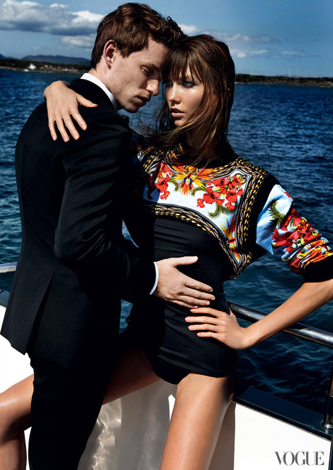 Karlie Kloss Eddie Redmayne Vogue