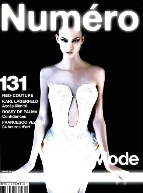 Karlie Kloss Numero March cover by Lagerfeld